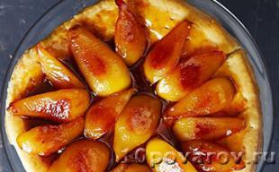 Песочный пирог Бурдалу с абрикосами