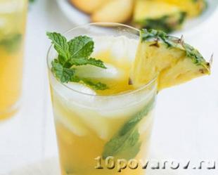 Ананасовый безалкогольный мохито