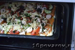 пицца с сосиской рецепт с фото