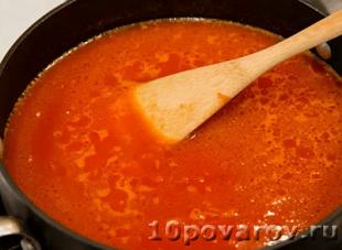 Ризотто в томатном соусе по-креольски