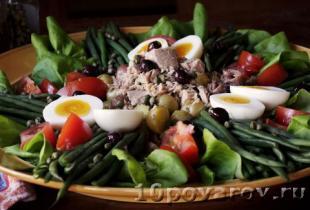 Ниццкий салат с тунцом