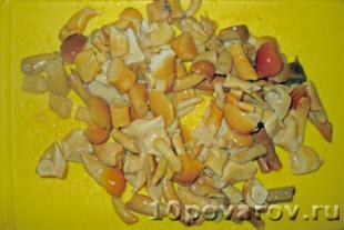 салат грибная корзинка с опятами