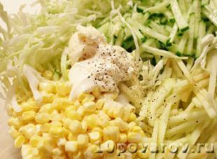 салат капуста огурец кукуруза