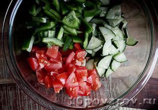 салат с сербской брынзой