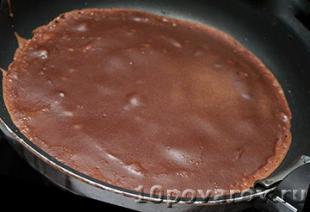 как приготовить шоколадные блинчики на молоке