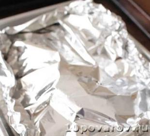Стейк лосося запеченный в фольге в духовке