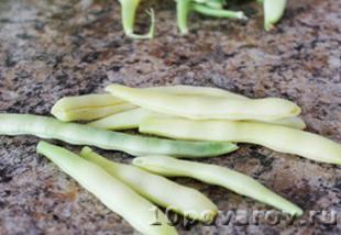 зеленая фасоль с майонезом