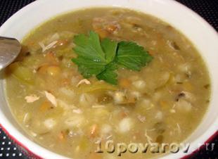 Сербский суп из смеси бобовых