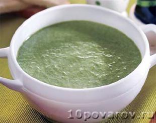 суп пюре из шпината в мультиварке