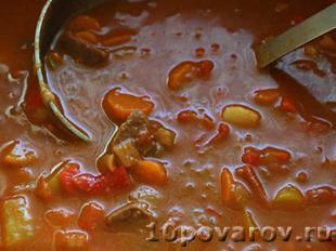 рецепт венгерского супа гуляша из говядины