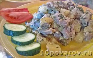 рецепт картофельной запеканки с грибами
