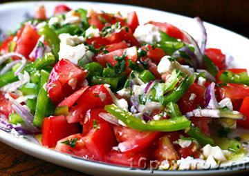 Сербский шопский салат