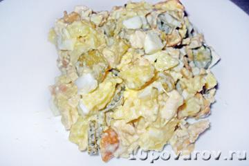 салат грибная корзинка