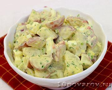 Теплый картофельный салат по-американски